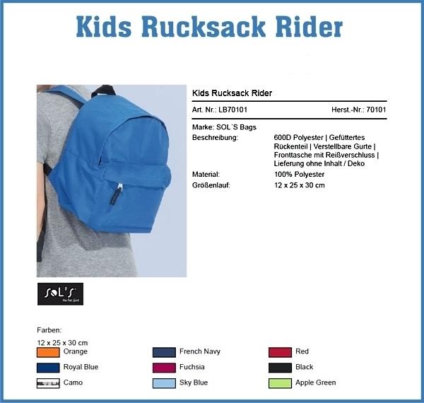 Kids Rucksack Rider Y 100