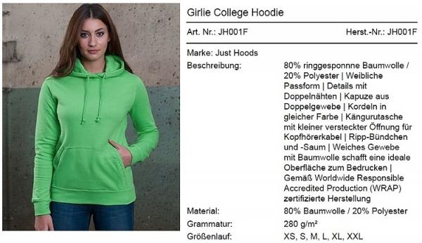 Damen Hoodie Y103