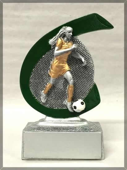 Frauen Fußballfigur aus Resin PDFRR